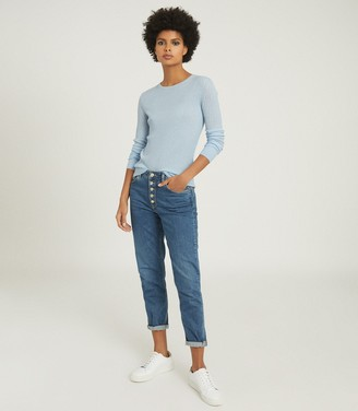 Reiss MICHELLE CREW NECK KNITTED TOP Blue