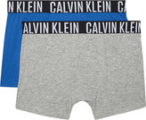 Calvin Klein Intense Power cotton boxer trunks pack of two 4-16 years