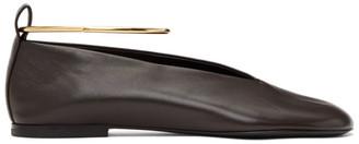 Jil Sander Brown Classic Anklet Ballerina Flats