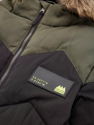 Very Boys Colour Block Chevron Padded Coat - Black/Khaki