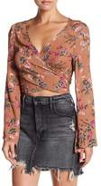 Reverse Floral Stonecold Cropped Shirt
