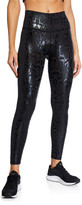 Terez Snakeskin Foil Printed High-Waist Leggings