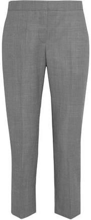 Alexander McQueen Cropped Wool-Jacquard Straight-Leg Pants