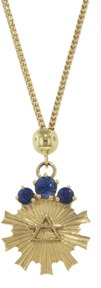 Foundrae Dotted Choker Air Element Necklace - Yellow Gold