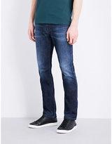 Armani Collezioni Faded Mid-rise Tapered Jeans