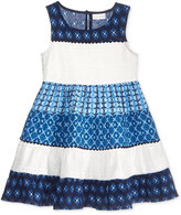 Sweet Heart Rose Lace and Mixed-Print Dress, Toddler and Little Girls (2T-6X)