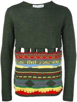 Comme des Garcons cut out pullover - men - Acrylic/Wool - S