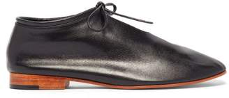 Martiniano High Cut Lace Up Leather Loafers - Womens - Black