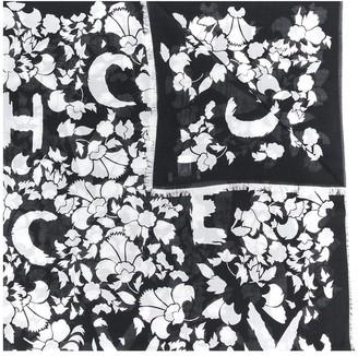 Givenchy Floral Logo Print Scarf
