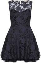 Yumi Black Flower Organza Occasion Dress