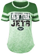 5th & Ocean Women's New York Jets Space Dye Foil T-Shirt