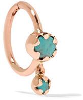 Pascale Monvoisin Lara 9-karat Pink Gold Turquoise Earring - Rose gold