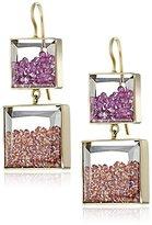 Moritz Glik Kaleidoscope 18k Yellow Gold and Floating Colored-Sapphire Earrings