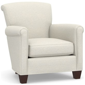 Pottery Barn Irving Roll Arm Upholstered Armchair