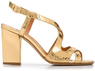 Rachel Comey Snakeskin-Effect 95mm Heeled Sandals