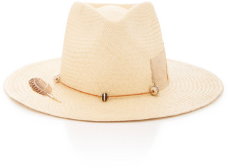 Nick Fouquet Sand Dollar Beach Embellished Straw Hat