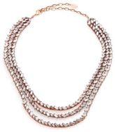 Erickson Beamon War of Roses Crystal Multi-Strand Necklace