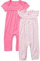 Carter's Girls' 2 Pack Short Sleeve Coverall
