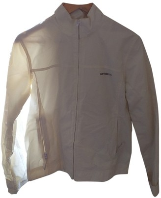 Carhartt White Leather Jacket for Women