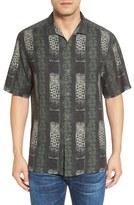 Tommy Bahama 'Tropical Totem Stripe' Original Fit Print Silk Camp Shirt