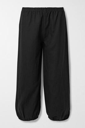 SUZIE KONDI Safari Linen Tapered Pants - Black
