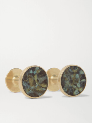 Alice Made This Bayley Marble-Effect Gold-Tone Cufflinks