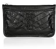 Saint Laurent Women's Niki Leather Zip Pouch