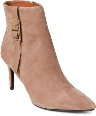 Calvin Klein Tobacco Grace Pointed Toe Ankle Booties