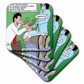 3dRose cst_2763_3 Dentist Speak Ceramic Tile Coasters, (Set of 4)