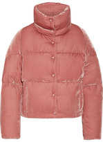 Moncler Cercis Quilted Velvet Down Jacket - Antique rose
