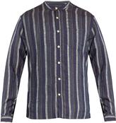 Oliver Spencer Granddad-collar linen shirt