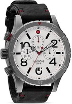 Nixon The 48-20 Chrono Leather Strap Watch, 48mm