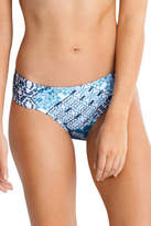Seafolly NEW Ruched Side Retro Blue