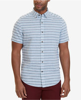 Nautica Men's Classic-Fit Striped Linen Blend Short-Sleeve Shirt