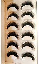 False Eyelash Sets,Hemlock Long Thick Soft Fake Lashes Natural Beauty Eyelashes (6pcs)
