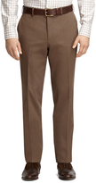 Brooks Brothers Plain-Front Taupe Dress Chinos
