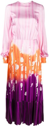 Stella Jean Gradient Print Maxi Dress