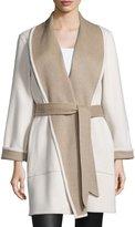 Sofia Cashmere Reversible Double-Face Wrap Coat