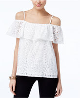 INC International Concepts Lace Cold-Shoulder Top, Only at Macy's