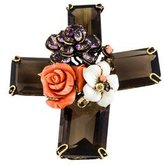 Iradj Moini Multistone Cross Brooch