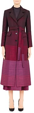 Mary Katrantzou Beatrice Plaid Virgin Wool-Blend Coat