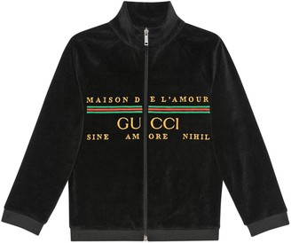 Gucci Children's embroidered chenille jacket