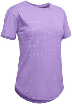 Under Armour Girls Branded Repeat Tee