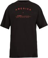 Raf Simons America-print crew-neck cotton T-shirt