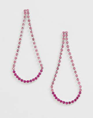 Swarovski Krystal London crystal bell chandelier Earrings-Pink