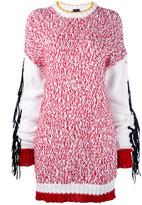 Joseph fringe trim oversize sweater - women - Cotton/Polyamide - XS