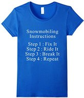 Lego Men's Snowmobiling Instructions T-Shirt Large