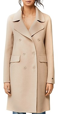 Soia & Kyo Rive Double Face Wool-Blend Double-Breasted Front Coat