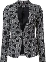 Sophie Theallet abstract pattern blazer - women - Silk/Cotton/Acrylic/Viscose - 4