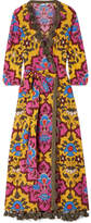 Rhode Resort - Lena Tasseled Printed Cotton-voile Maxi Dress - Pink